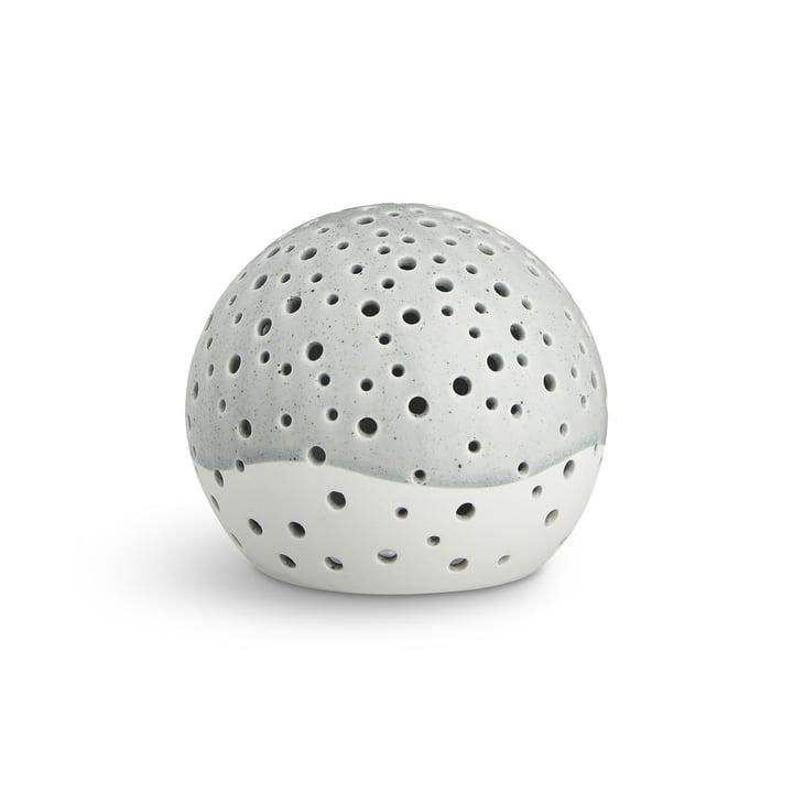 Nobili Tealight Holder Sphere Ø 14 cm by Kähler Design in Grey