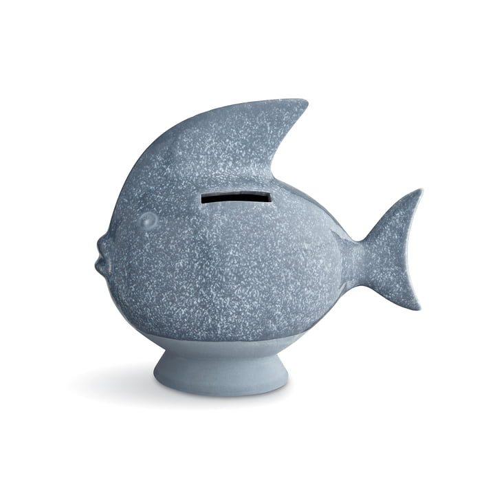 Kähler Design - Fish Money Box, grey blue