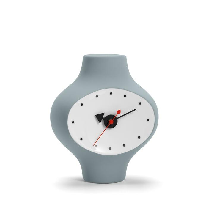 Ceramic Clock Model #3 by Vitra in Dark Grey / Blue