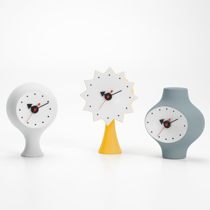 Ceramic Clocks by George Nelson for Vitra