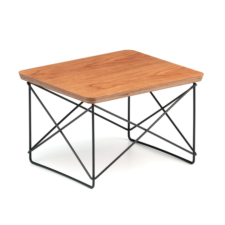 Vitra - Eames Occasional Table LTR , American cherry tree / basic dark