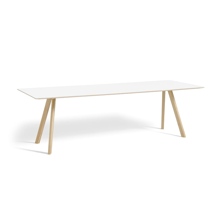Hay - Copenhague CPH30 Table 250 x 90 cm in Matt Lacquered Oak / White Laminate