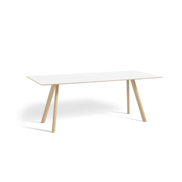 Hay - Copenhague CPH30 Table 200 x 90 cm in Matt Lacquered Oak / White Linoleum