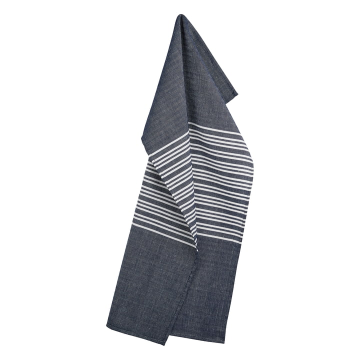 Horizontal Tea Towel 50 x 80 cm by Georg Jensen Damask in Deep Blue