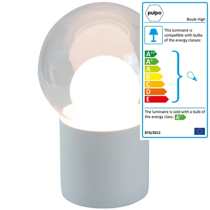The Pulpo - Boule High Floor Lamp, transparent / white / white socket