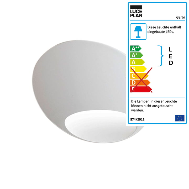 The Luceplan - Garbí LED Wall Lamp in White