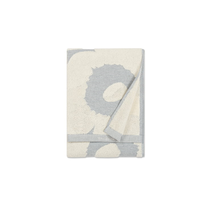 Marimekko - Unikko Hand Towel 50 x 100 cm, cream white / blue