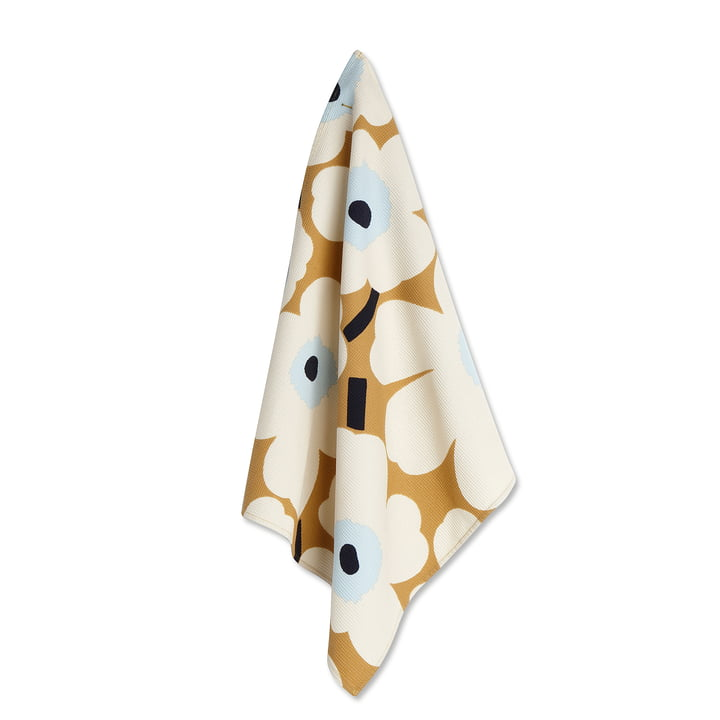 Marimekko - Unikko Tea Towel, set of 2 white / beige / blue