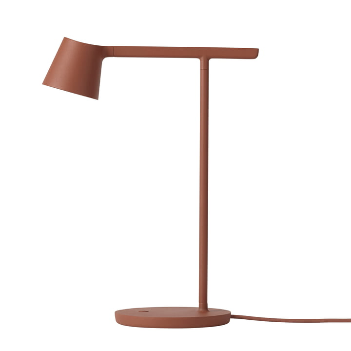 Tip LED Table Lamp by Muuto in Copper Brown