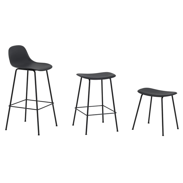 Fiber Stool by Muuto with Metal Base