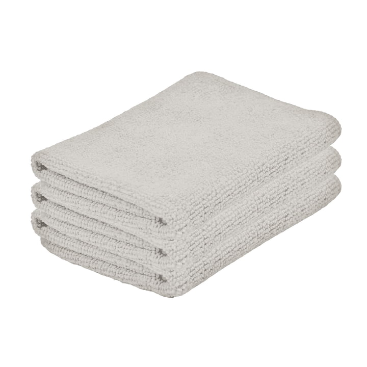 The Zone Denmark - Microfibre Cleaning Cloths in Warm Grey (set of 3)