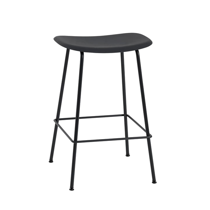 Fiber Bar Stool Tube Base by Muuto in Black