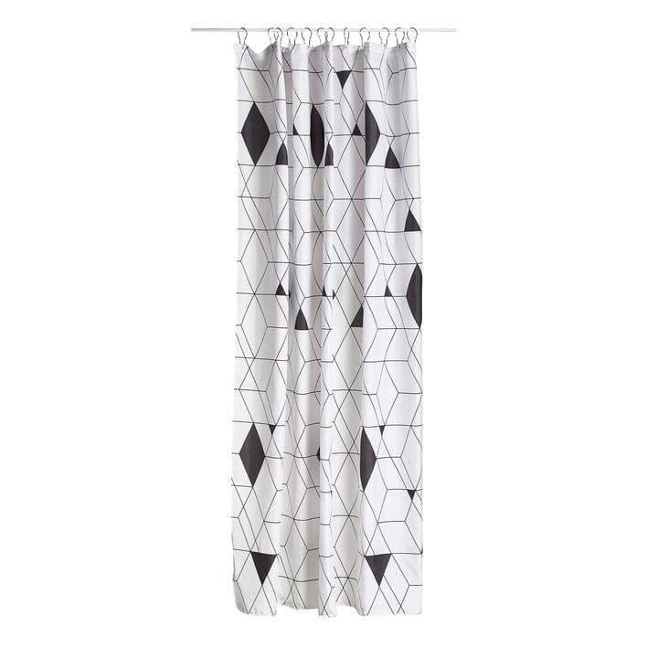 The Zone Denmark - Harlequin Shower Curtain in Black