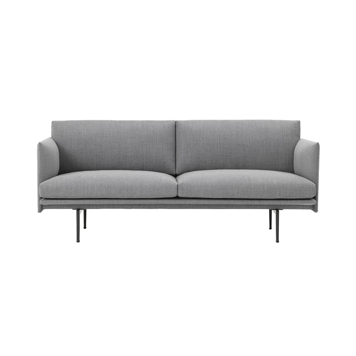 Outline Studio Sofa 2 Seater by Muuto in Fiord 151 / Black