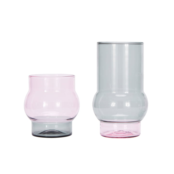 The Tom Dixon - Bump Short and Tall Drinking Glasses