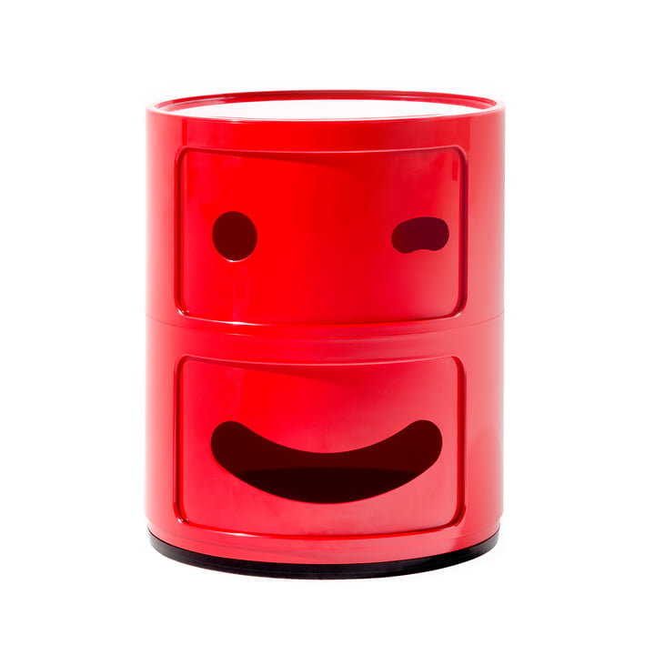 Kartell - Componibili Smile 4926, red