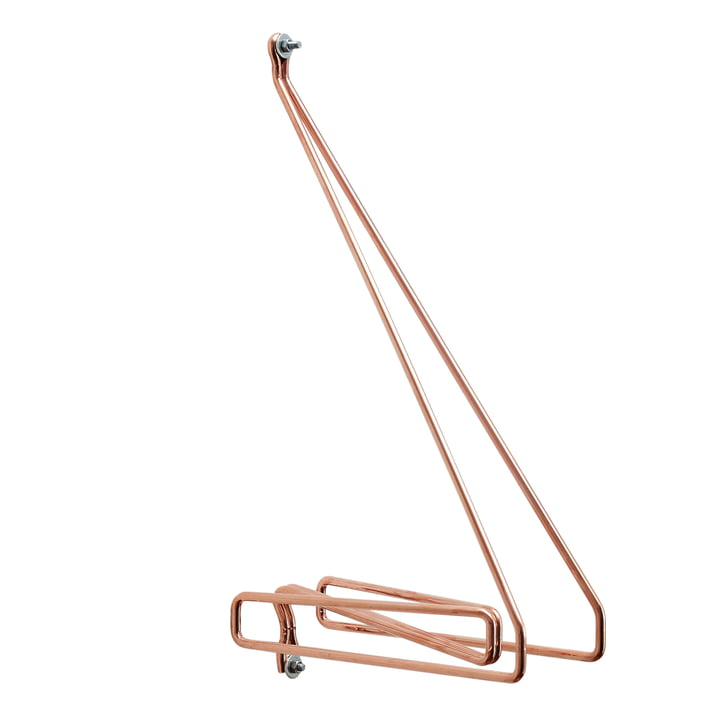 Connox Collection - Wire Shelf Bracket, Copper / Centre