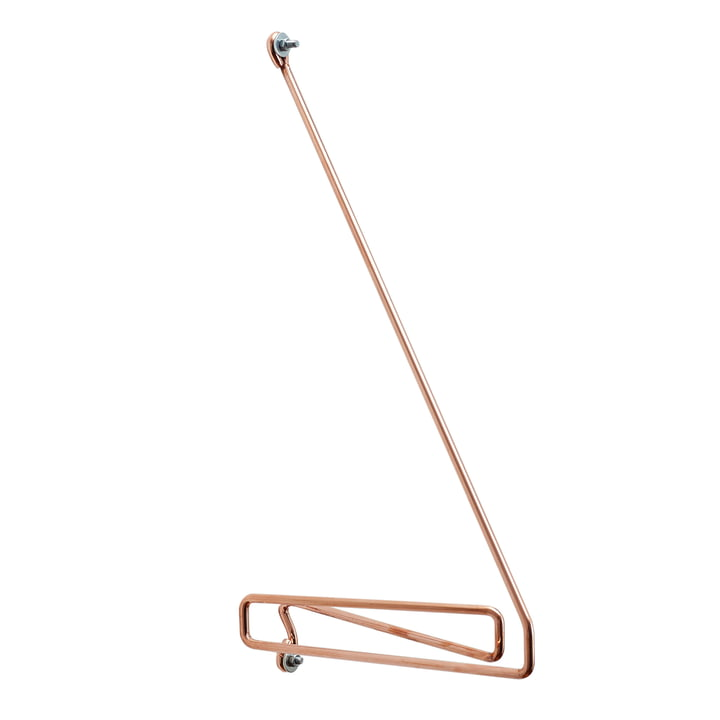 Connox Collection - Wire Shelf Bracket, Copper / Right