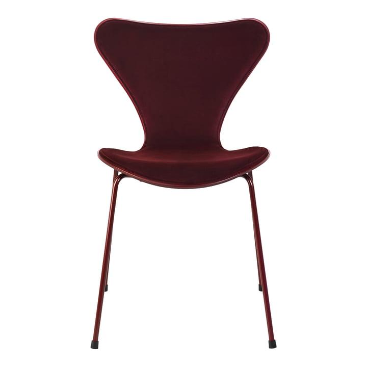 Fritz Hansen x lala Berlin - Serie 7 Chair, front upholstery, Dedar velvet Barberry, red (limited edition)