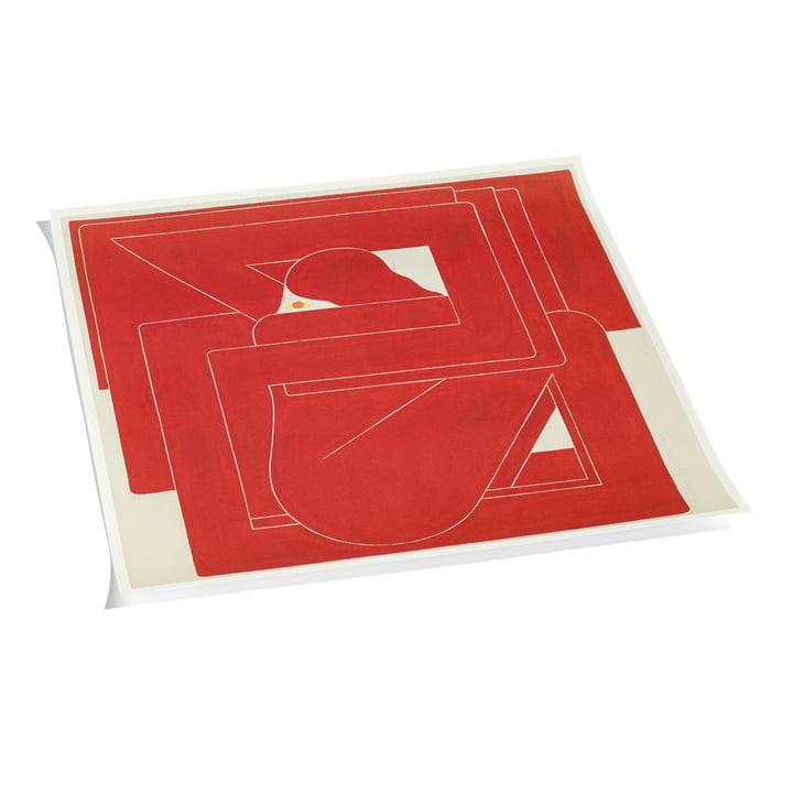 Square by Richard Colman Poster 70 x 70 cm by Hay in Red