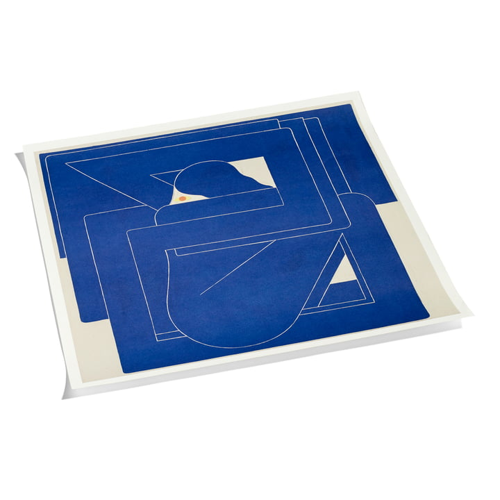 Square by Richard Colman Poster, 70 x 70 cm by Hay in Blue