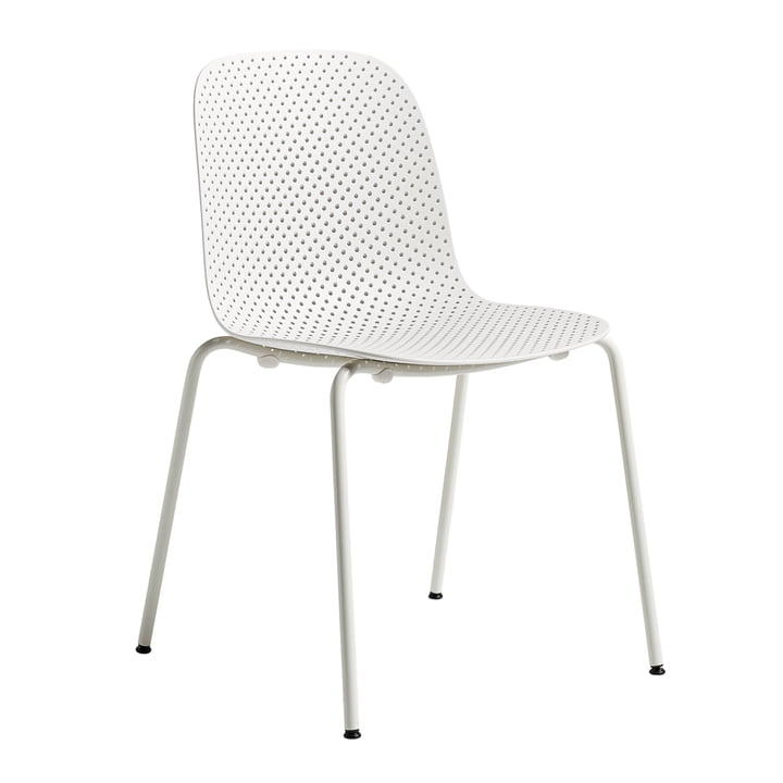 13Eighty Chair by Hay with Grey White Frame / Chalk White Seat Surface