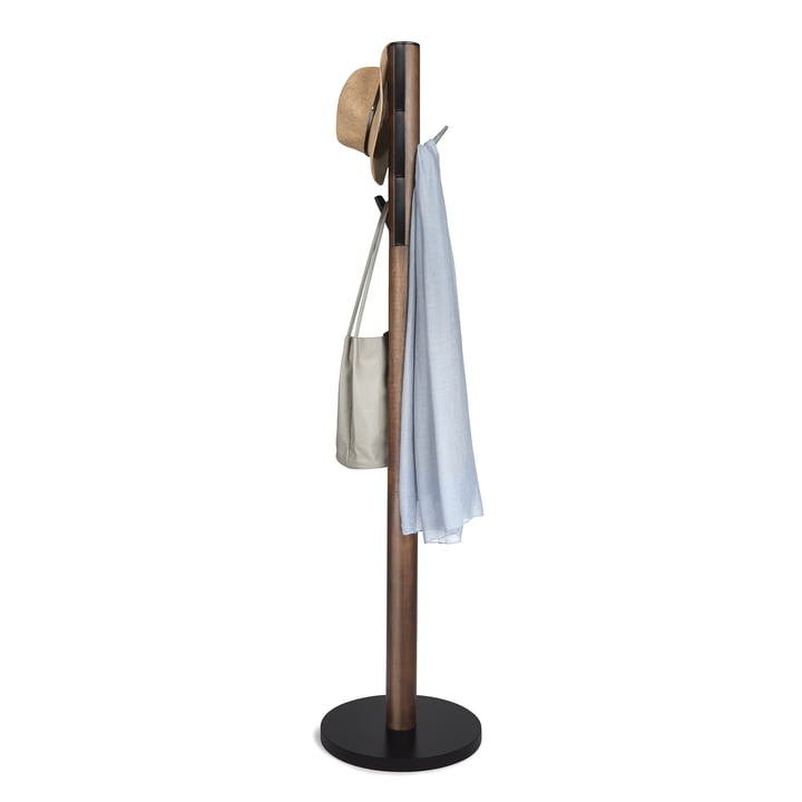 Flapper Coat Stand by Umbra in White / Walnut