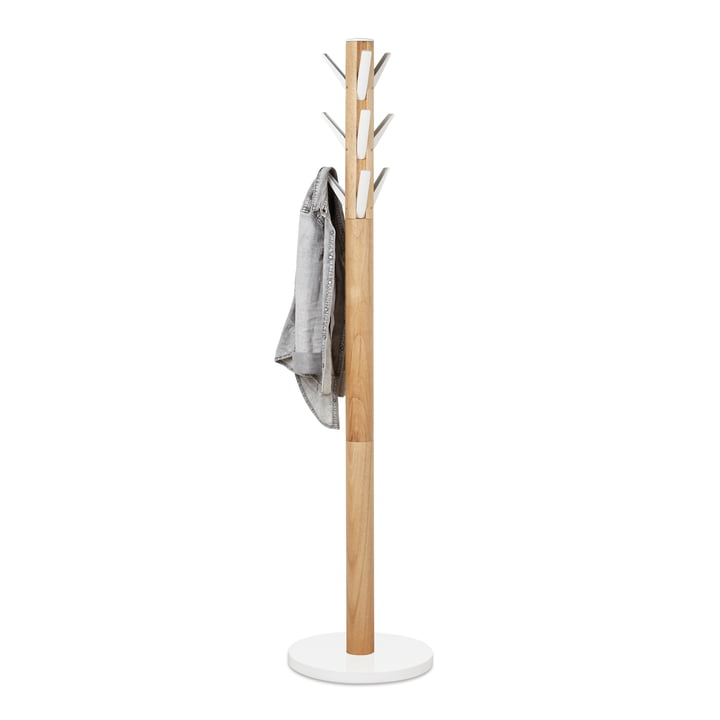 Flapper Coat Stand by Umbra in White / Natural