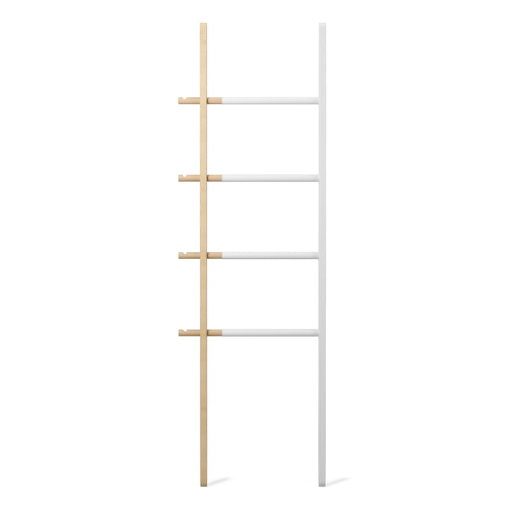 Umbra - Hub Ladder Rack in White / Natural