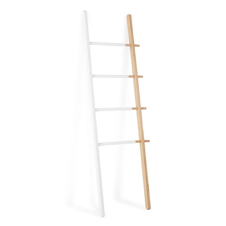 Umbra - Hub Ladder Rack in White / Natural