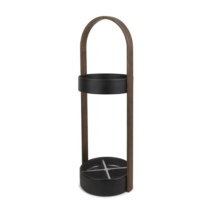 Umbra - Hub Umbrella Stand in Black / Walnut