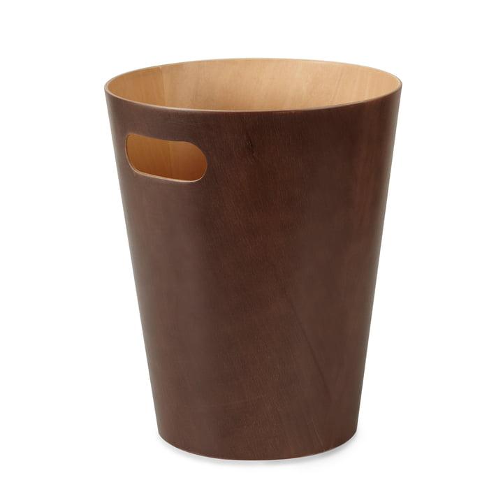 The Umbra - Woodrow Waste Paper Bin in Espresso