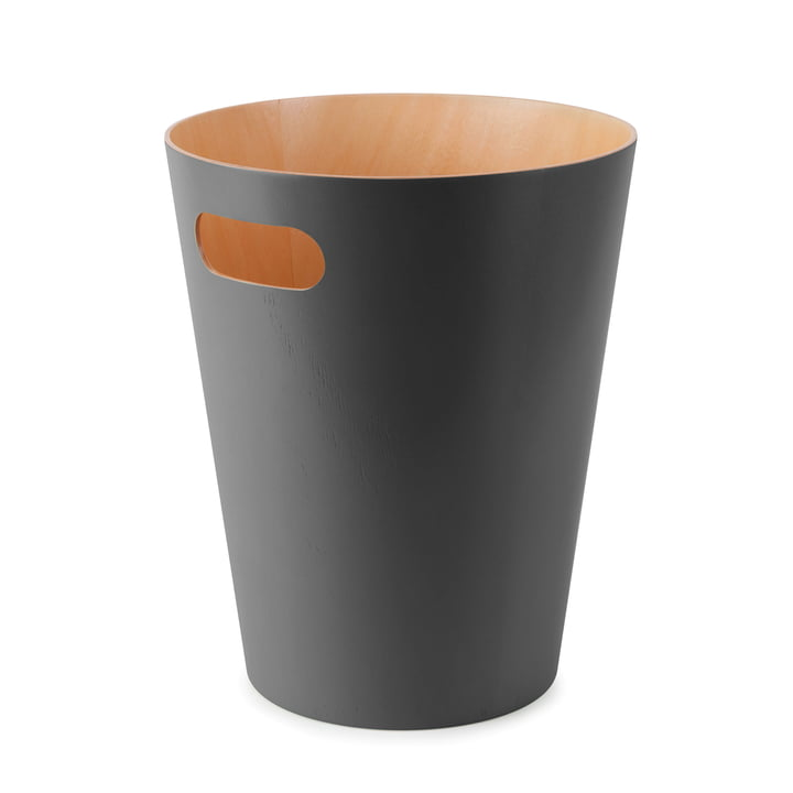 The Umbra - Woodrow Waste Paper Bin in Charcoal