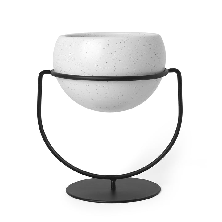 Nesta Freestand Plant Holder by Umbra with White Speckled Pots