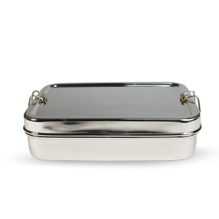 Steel Lunchbox, Rectangular with Extra Box by Hay