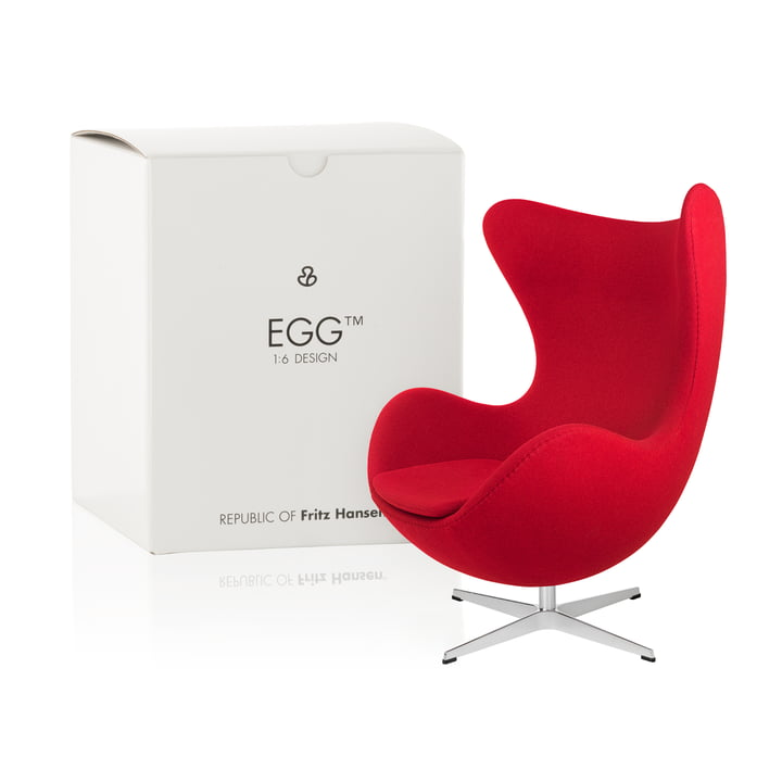 Fritz Hansen - Miniature Egg Seat, red
