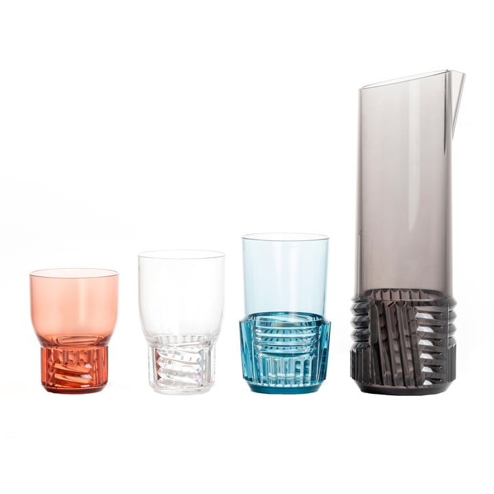 Kartell - Trama Drink Glasses with Jug in Various Colours