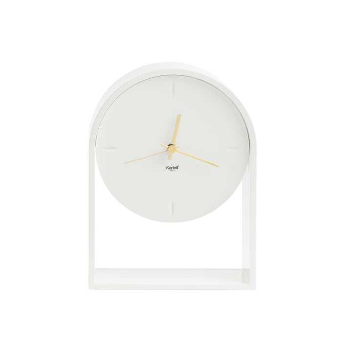 The Kartell - Air du Temps Table Clock in White