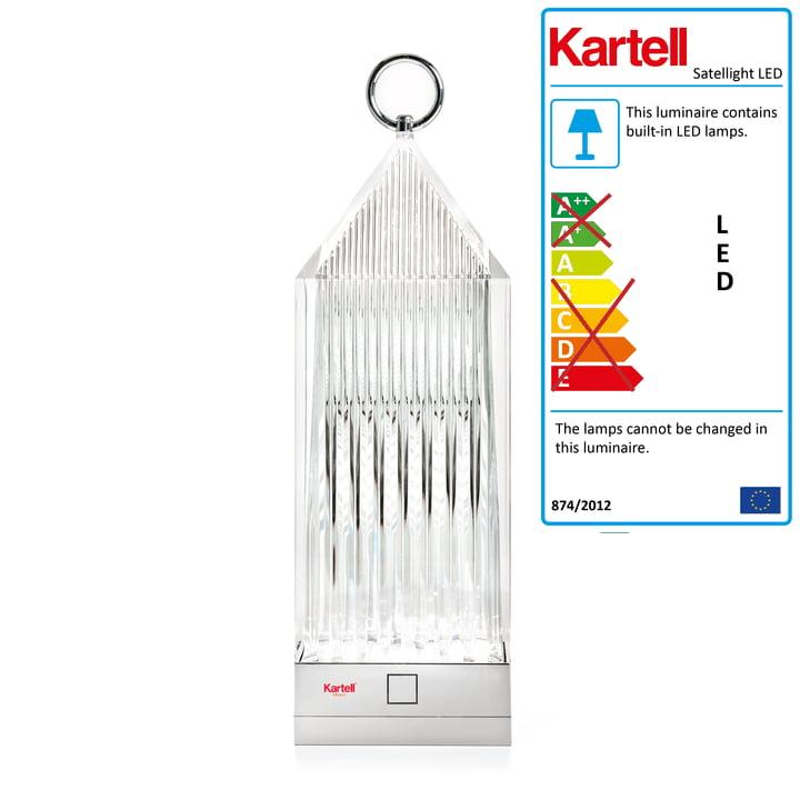 The Kartell - Lantern LED Lamp, Clear Glass