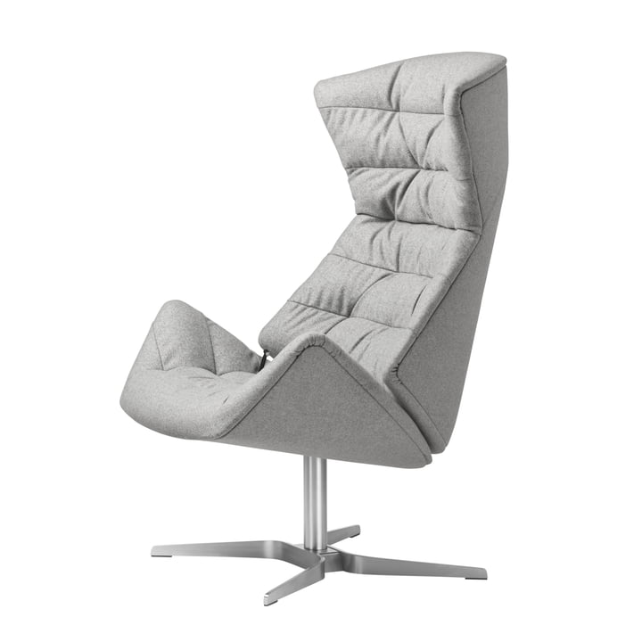 Thonet - 808 Lounge Chair, stainless steel frame / Bergen fabric (905 leather)