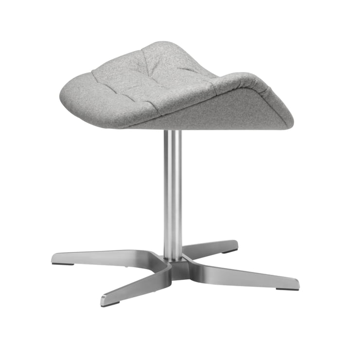 808 Lounge Chair by Thonet, Stainless Steel Frame / Bergen Fabric (905 Grey)