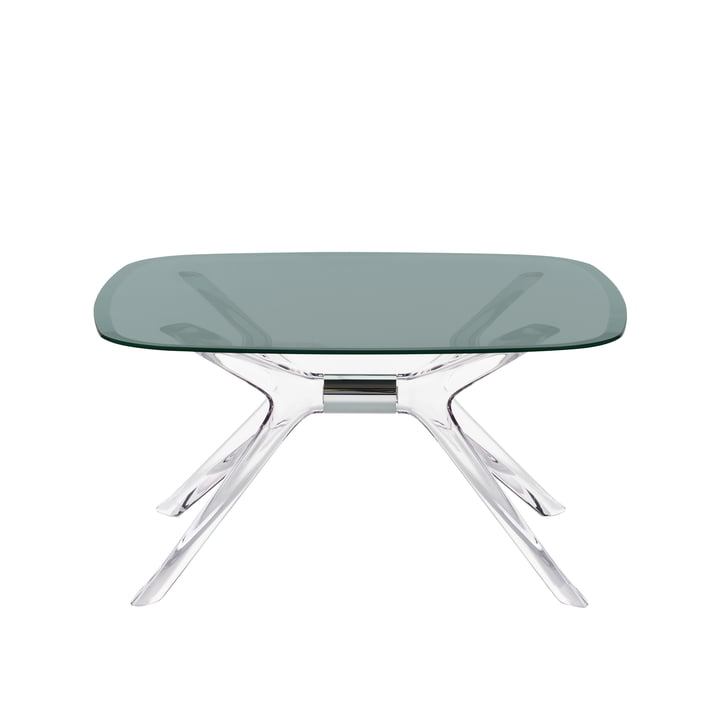 The Kartell - Blast Coffee Table, 80 x 80 cm in Crystal Chrome / Fumé