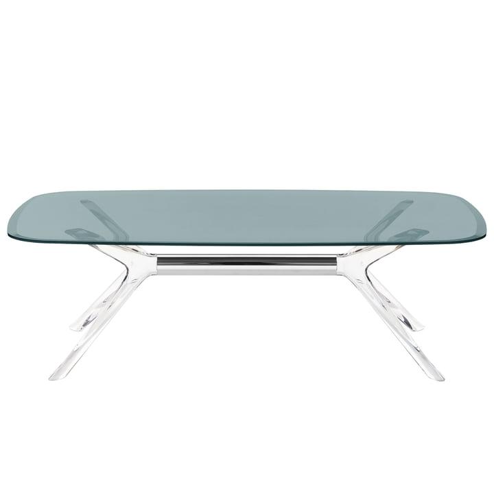 The Kartell - Blast Coffee Table, 130 x 80 cm in Crystal Chrome / Fumé