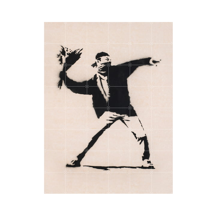 Love is in the Air (Banksy), 120 x 160 cm by IXXI