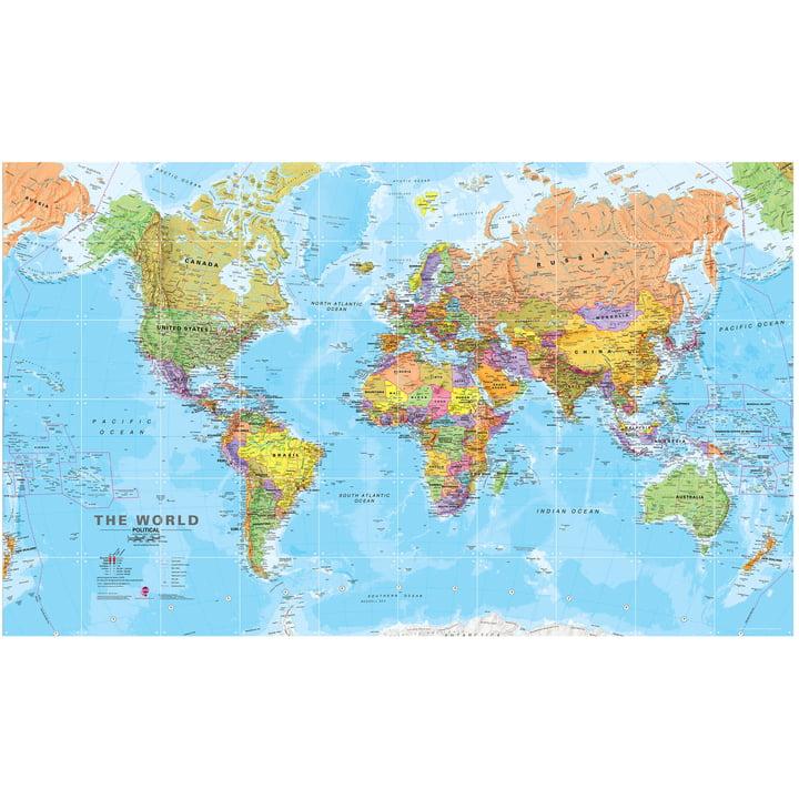 The World (Political), 200 x 120 cm by IXXI