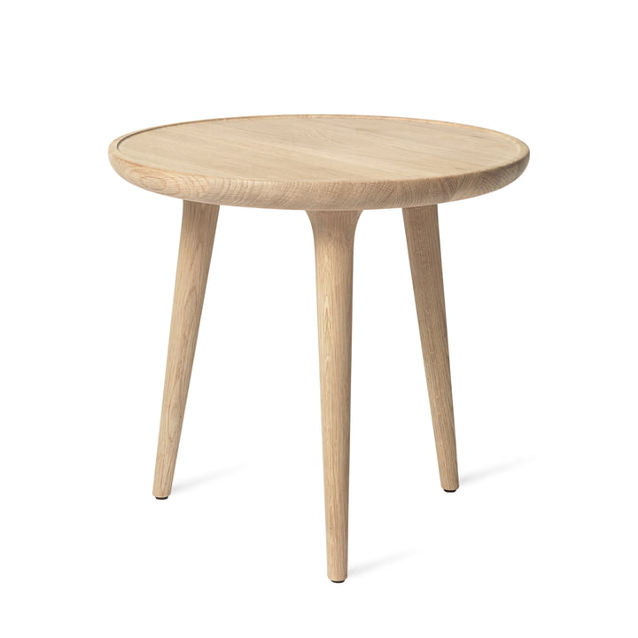 Accent Side Table Ø 45 x H 42 cm by Mater in Oak