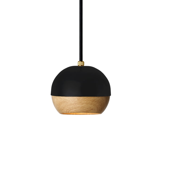 Ray Pendant Lamp Ø 11.9 cm by Mater in Black