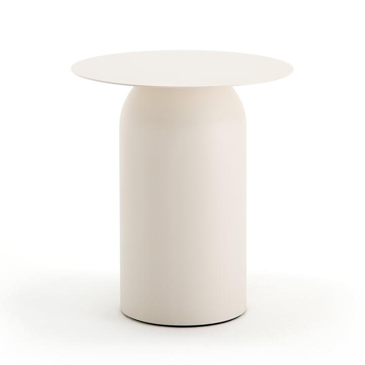 154 Coffee Table H 49 cm / Ø 43 cm by Freistil in Cream White (RAL 9001)
