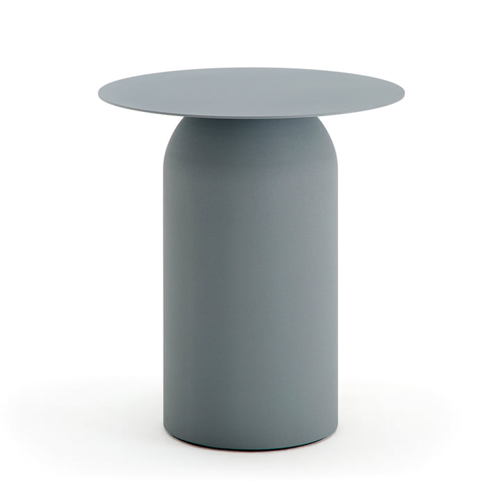 154 Coffee Table, H 49 cm / Ø 43 cm by Freistil in Basalt Grey (RAL 7012)