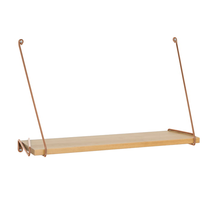 Wall Shelf with Copper Brackets from the Connox Collection